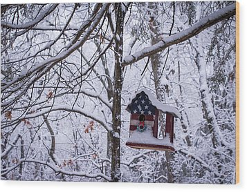 Wood Print featuring the photograph Patriotic Christmas by Wayne Meyer