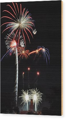 Wood Print featuring the photograph Patriotic Illumination by Kevin Munro