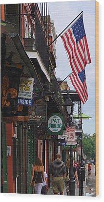 Patriotic Pat Obriens Wood Print by Margaret Bobb