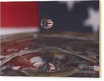 America Wood Print by Anthony Sacco