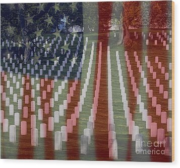 Patriotism Wood Print by Patti Whitten