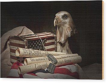 Patriotism Wood Print by Tom Mc Nemar