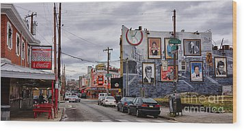 Pat's And Geno's 2 Wood Print by Jack Paolini