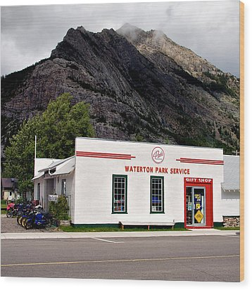 Wood Print featuring the photograph Pat's Waterton Park Service by Trever Miller
