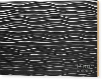 Pattern Of Waves Wood Print by Amy Cicconi