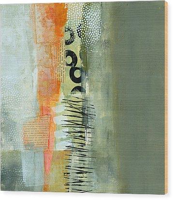Pattern Study Nuetral 1 Wood Print by Jane Davies