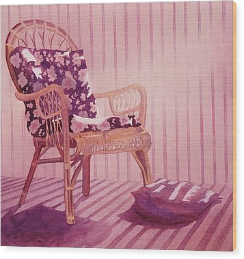 Wood Print featuring the painting Patterns In The Morning by John  Svenson