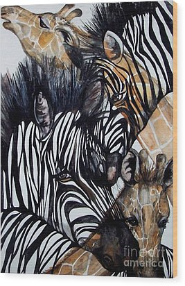 Patterns Of Nature Wood Print by Laneea Tolley