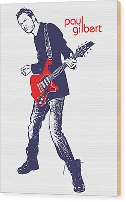 Paul Gilbert No.01 Wood Print by Caio Caldas
