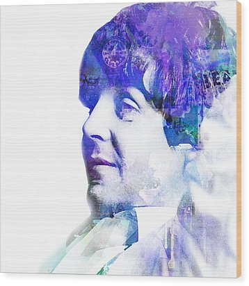 Paul Mccartney  Wood Print by Mike Maher
