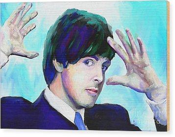 Paul Mccartney Of The Beatles Wood Print by GCannon