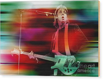 Paul Mccartney Then And Now Wood Print by Marvin Blaine