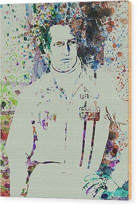 Paul Newman  Wood Print by Naxart Studio