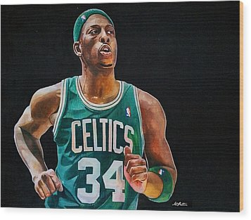Paul Pierce - The Truth Wood Print by Michael  Pattison