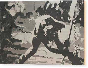 Paul Simonon Of The Clash Wood Print by Dustin Spagnola