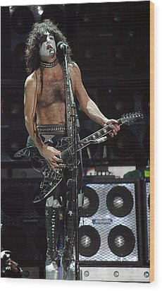 Paul Stanley Kiss Wood Print by Don Olea