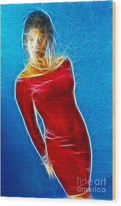 Paula Velvet Vison Fractal Wood Print by Gary Gingrich Galleries