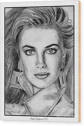 Paulina Porizkova In 1987 Wood Print