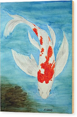 Paul's Koi Wood Print by Marna Edwards Flavell