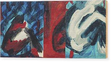 Pause  Wood Print by Hatin Josee