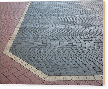 Wood Print featuring the photograph Paving Bricks by Pete Trenholm