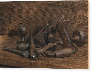 Paw Paw's Tools Wood Print