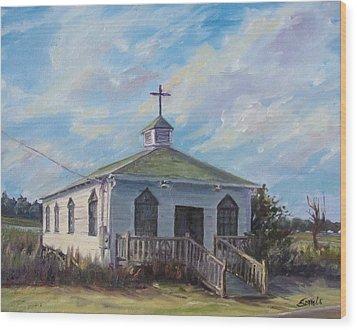 Pawleys Chapel Wood Print