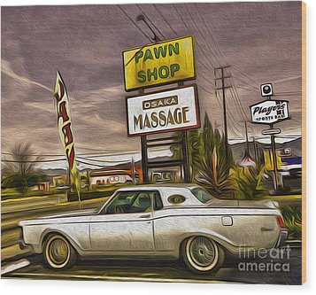 Pawn - Pool - Massage Wood Print by Gregory Dyer
