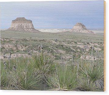 Pawnee Buttes Wood Print