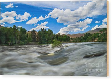 Payette River Wood Print by Robert Bales