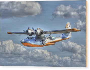 Pby 2 Wood Print by Jeff Cook