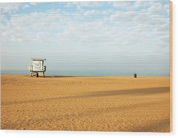 Pch Lifegaurd Station Wood Print by Ari Jacobs