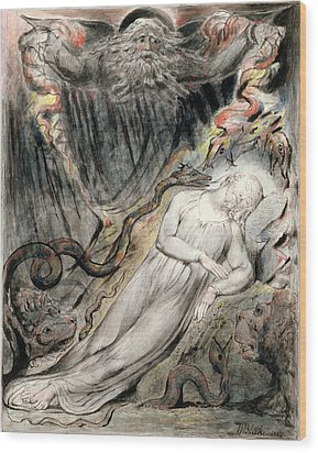 Pd.20-1950 Christs Troubled Sleep Wood Print by William Blake