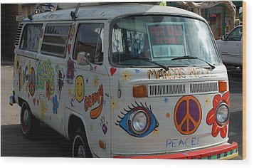 Peace And Love Van Wood Print by Dany Lison