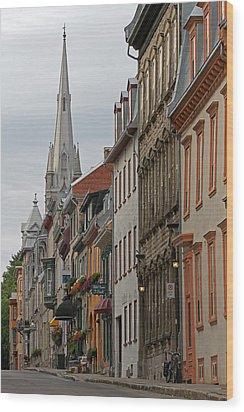 Peace And Quiet Of Rue De Sainte Ursule Wood Print by Juergen Roth