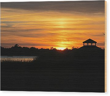 Peace And Serenity Wood Print by Joetta Beauford