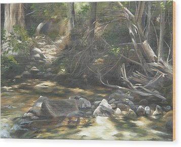 Wood Print featuring the painting Peace At Darby by Lori Brackett