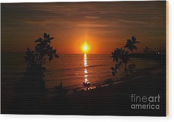Peace At The Beach Wood Print by Chris Tarpening