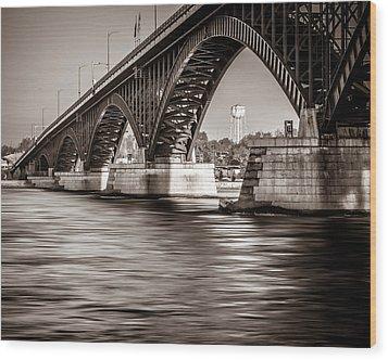 Peace Bridge Wood Print