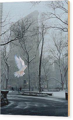 Peace Wood Print by David Klaboe