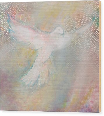 Peace Dove Wood Print by Anne Cameron Cutri