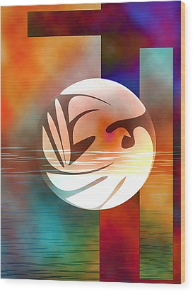 Peace Dove Wood Print by Bruce Manaka
