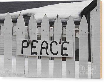 Wood Print featuring the photograph Peace by Fiona Kennard
