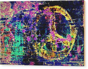 Wood Print featuring the photograph Peace Graffiti by Suzanne Stout
