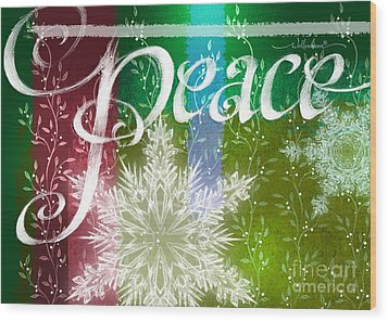Peace Greeting Wood Print