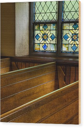 Peace In The Pews Wood Print
