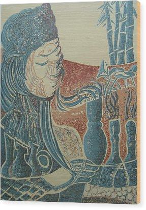 Peace Inside Us Wood Print by Ousama Lazkani