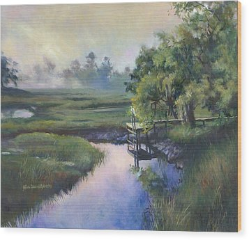 Peace Like A River Wood Print by Alice Grimsley