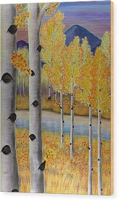 Peace Like A River I Wood Print by Elizabeth Golden