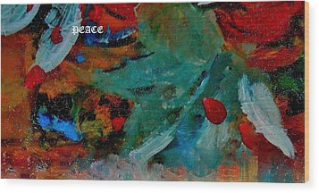 Wood Print featuring the painting Peace by Lisa Kaiser